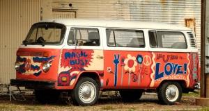 '60's psychedelic VW van