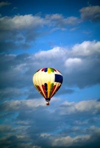 Hot air balloon floating overe Hunterdon County, NJ