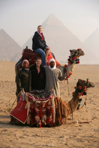 Gail Mooney and daughter Erin Kelly, Giza, Egypt