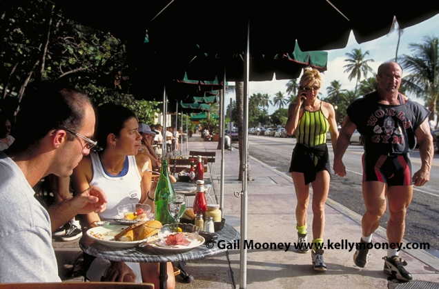 People watching, South Beach, Miami, Florida