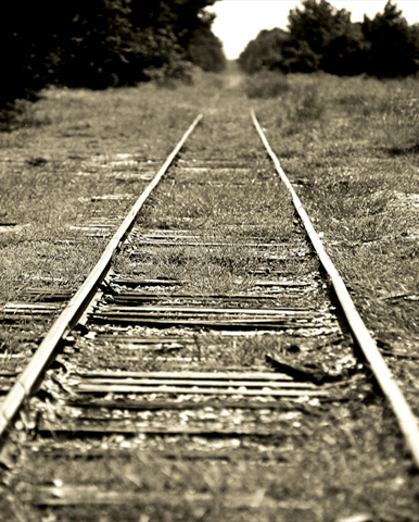 Train tracks, Mississippi