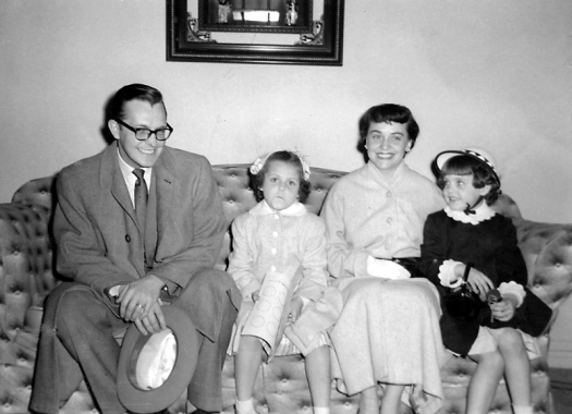 Mooney family, Easter Sunday, Chicago, IL  (1956-57?)