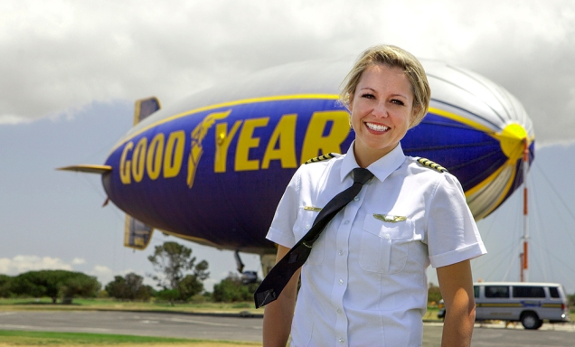 Taylor Laverty, Pilot of Good Year Blimp, Carson, CA