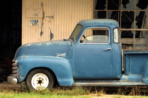 Old blue truck at Hopsons Plantation Clarksdale, MS
