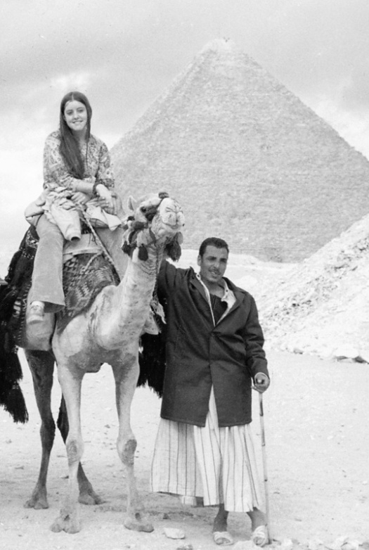 Gail at the Great Pyramids 1971
