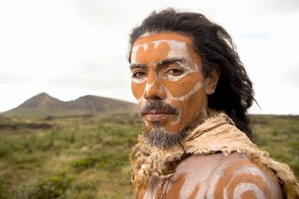 Native Rapa Nui Man, Easter Island, Chile